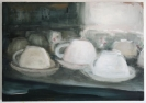 White cups 30x35cm, oil on canvas