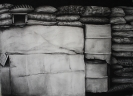 Domestic partition, 140x170cm, charcoal on paper