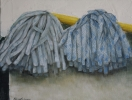 A couple of mops, 30x40cm, oil on canvas