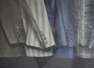 Suit series, 30x35cm, oil on wood
