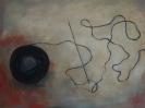 Unravelled thread, 30x35cm, oil on wood