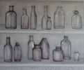empty medicine bottles, 40x50cm